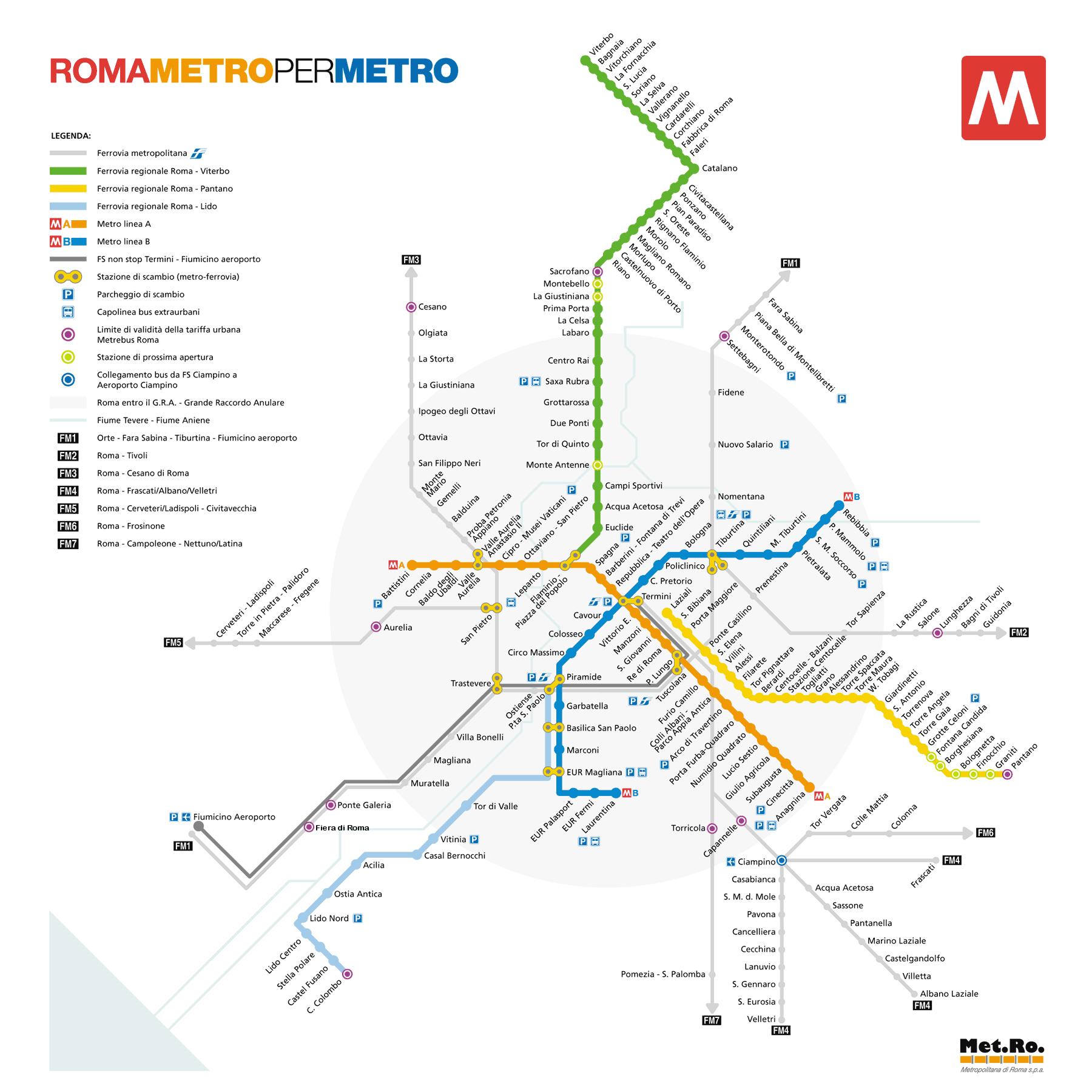 mapa metro de roma italia Metro De Roma Mapa   Younglaunch mapa metro de roma italia