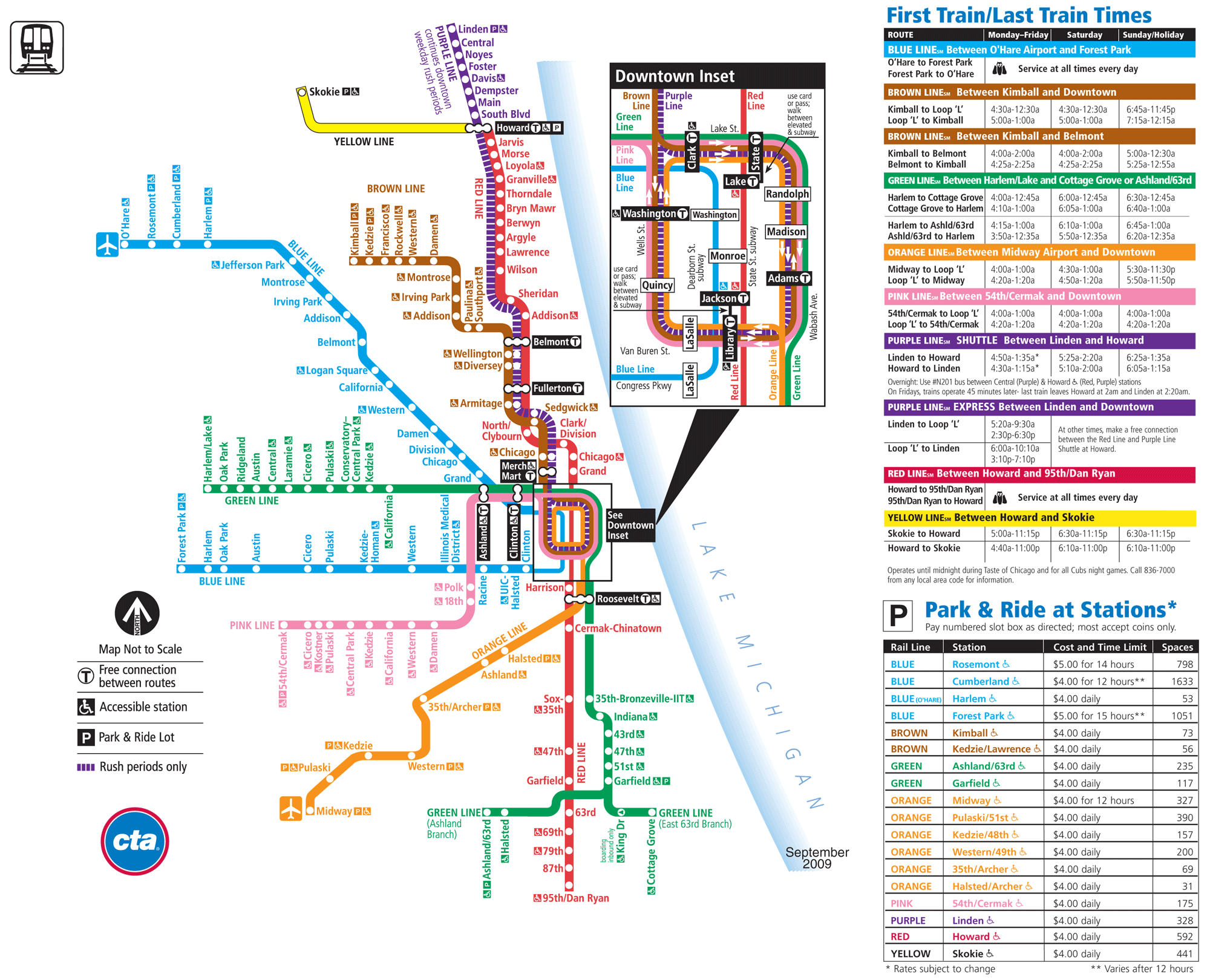 Subway Map Chicago